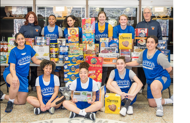 Women's Basketball Food Pantry Donations