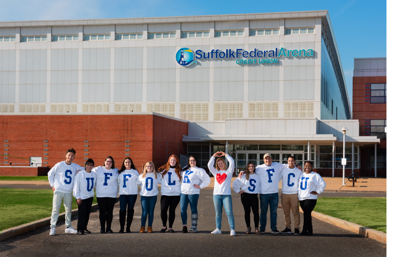 Suffolk-SFCU student sweatshirts